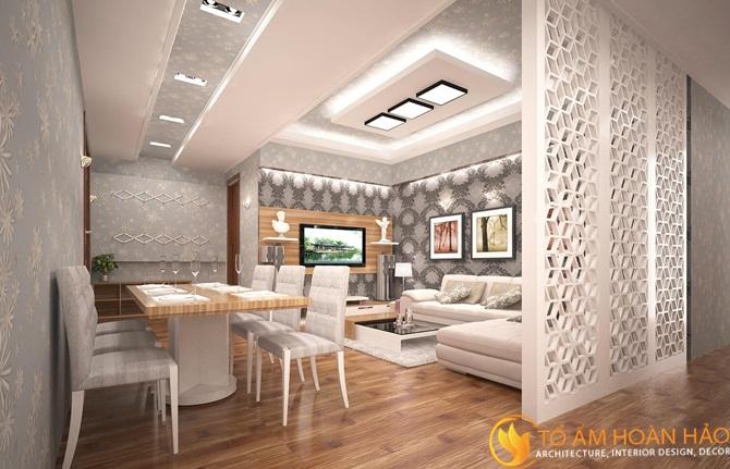 Thi công trần thạch cao giúp tăng tính thẩm mỹ cho không gian và chống nóng