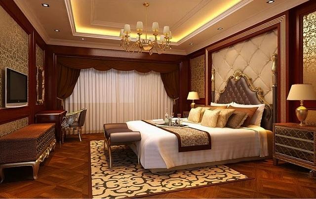 nội thất phòng ngủ sử dụng sàn gỗ