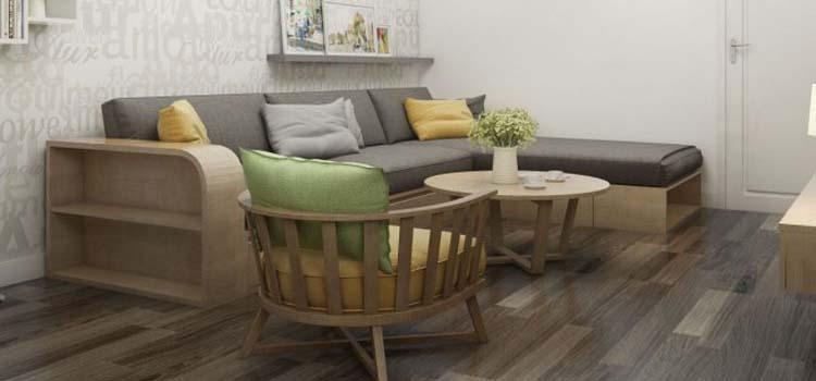 Thiết kế nội thất chung cư 48m2 - chị Trang 8
