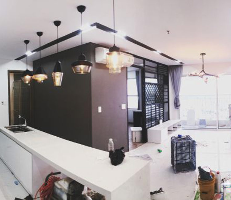 thiết kế nội thất chung cư 50m2 - anh Lâm 9