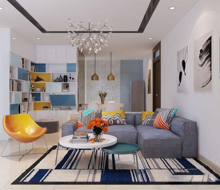 Thiết kế nội thất chung cư 89m2 - anh Hùng 18