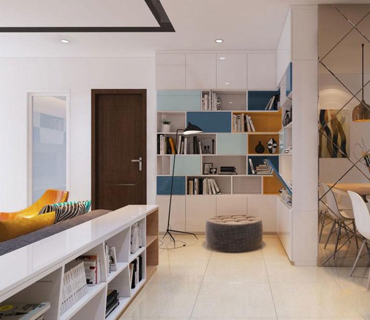 Thiết kế nội thất chung cư 89m2 - anh Hùng 19