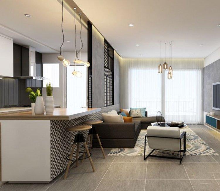 Thiết kế nội thất chung cư 110m2 The Garden - anh Phú 7