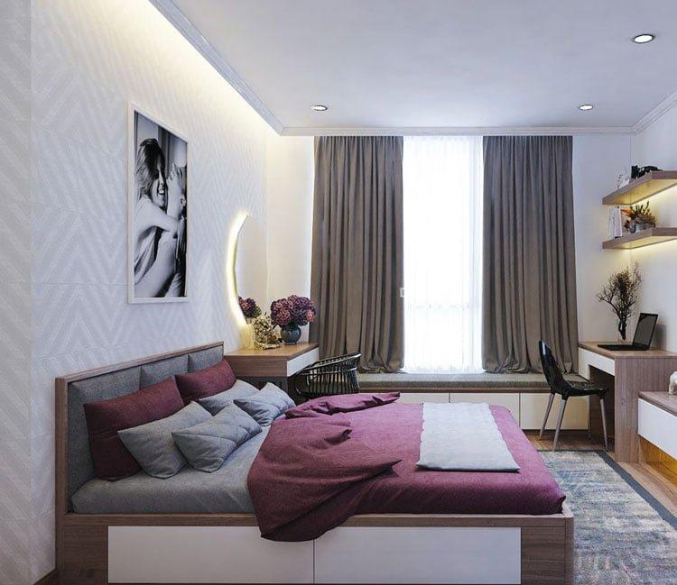 thiết kế nội thất chung cư 77m2 - anh Nhân 4