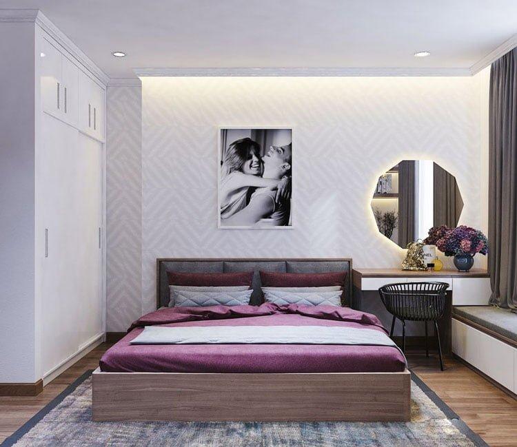 thiết kế nội thất chung cư 77m2 - anh Nhân 6