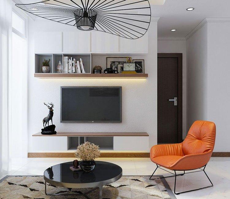 thiết kế nội thất chung cư 77m2 - anh Nhân 10