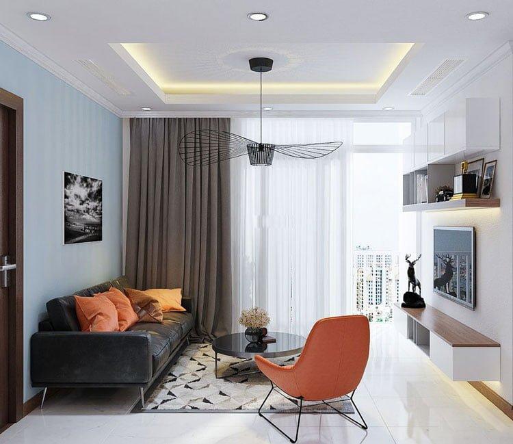 thiết kế nội thất chung cư 77m2 - anh Nhân 9