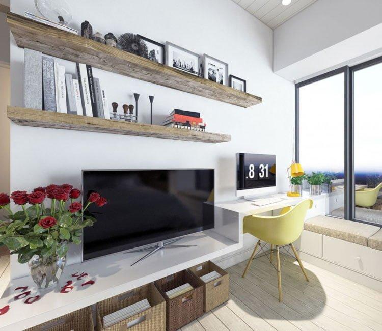 Thiết kế nội thất chung cư 77m2 Center Point - anh Quang 1