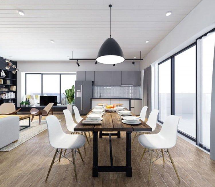 Thiết kế nội thất chung cư 77m2 Center Point - anh Quang 6