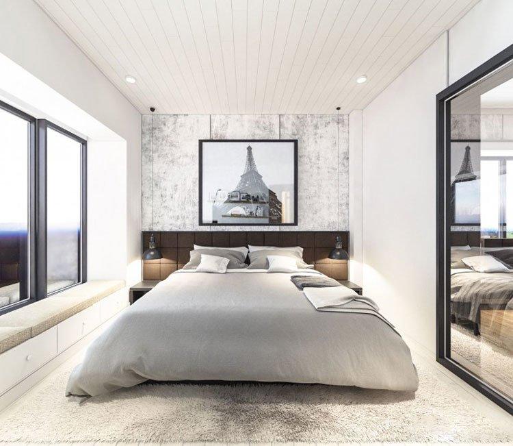 Thiết kế nội thất chung cư 77m2 Center Point - anh Quang 12