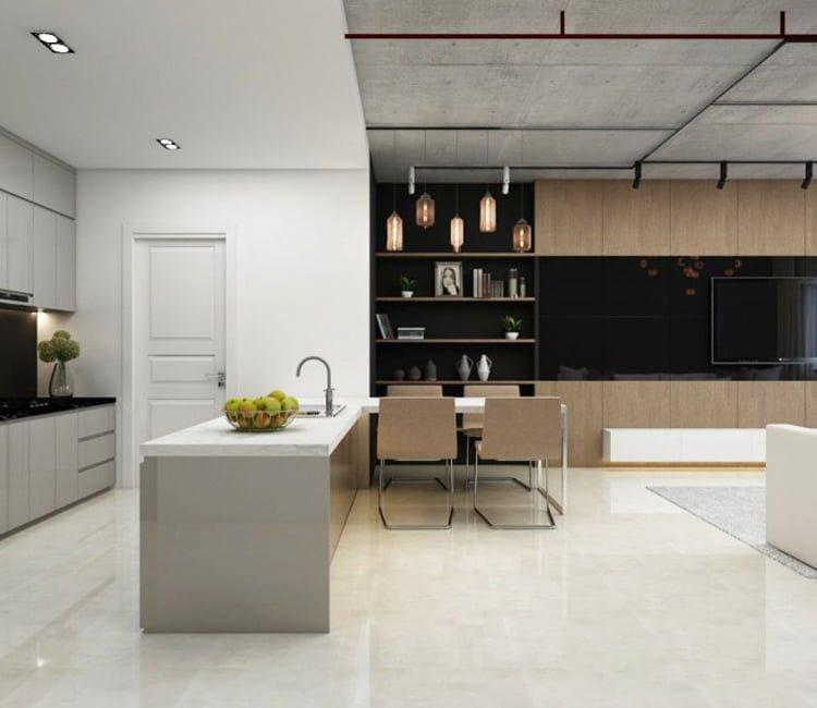 Thiết kế nội thất chung cư 78m2 FLC - chị Minh 3