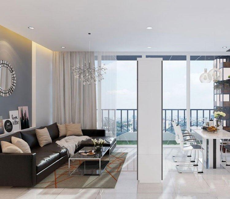 Thiết kế nội thất chung cư 88m2 Hà Nội Pragon - anh VInh 1