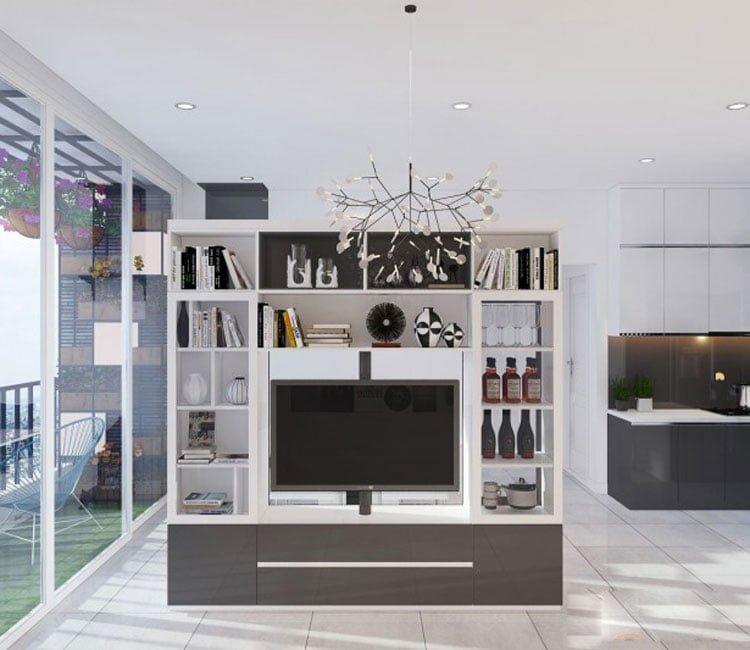 Thiết kế nội thất chung cư 88m2 Hà Nội Pragon - anh VInh 2