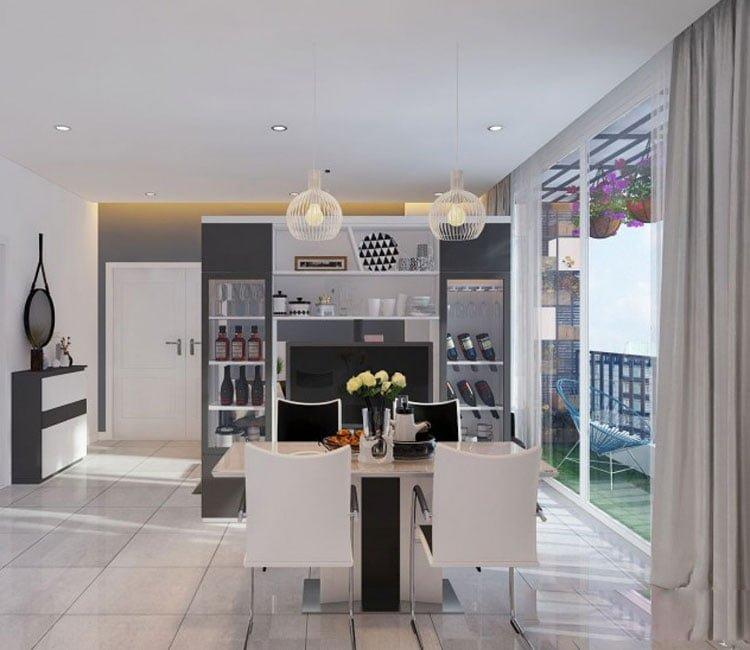 Thiết kế nội thất chung cư 88m2 Hà Nội Pragon - anh Vinh 3