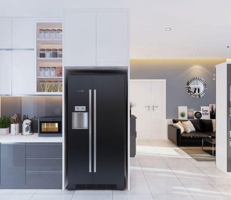 Thiết kế nội thất chung cư 88m2 Hà Nội Pragon - anh Vinh 4