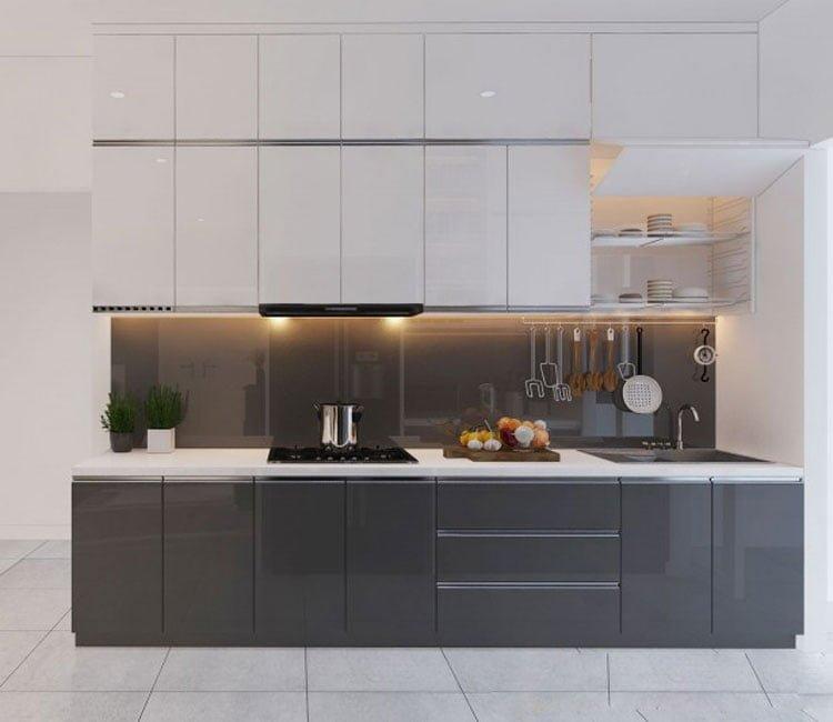 Thiết kế nội thất chung cư 88m2 Hà Nội Pragon - anh Vinh 5