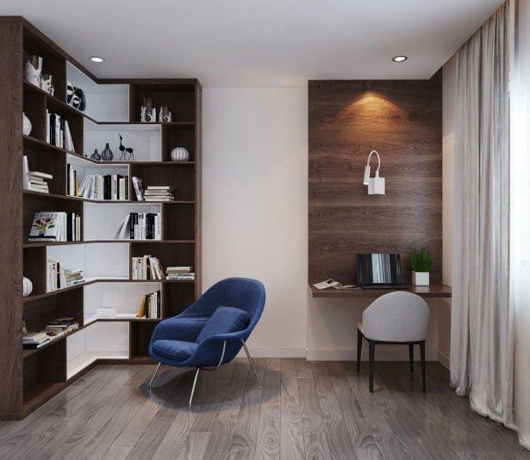 Thiết kế nội thất chung cư 88m2 Hà Nội Pragon - anh Vinh 8