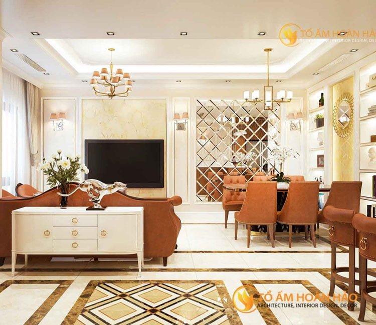 thiết kế thi công kiến trúc nội thất chị Huyền Vinhomes Rivesides 2 - 1