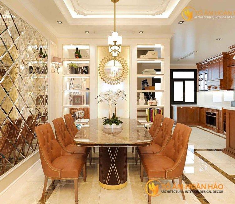 thiết kế thi công kiến trúc nội thất chị Huyền Vinhomes Rivesides 2 - 3