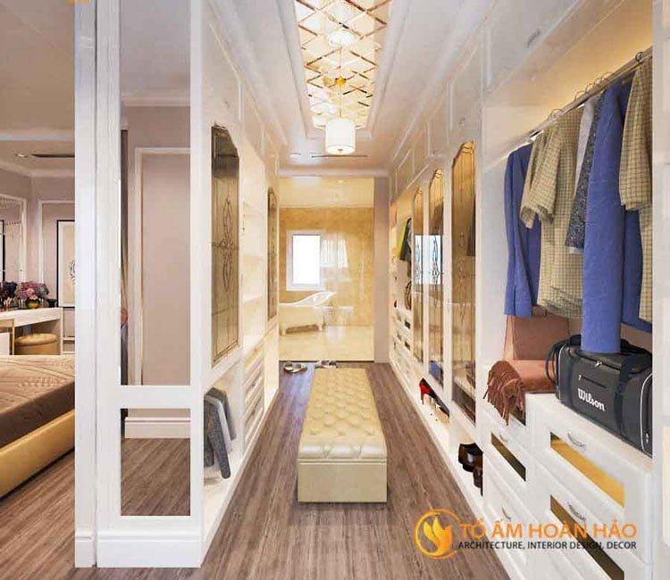 thiết kế thi công kiến trúc nội thất chị Huyền Vinhomes Rivesides 2 - 5