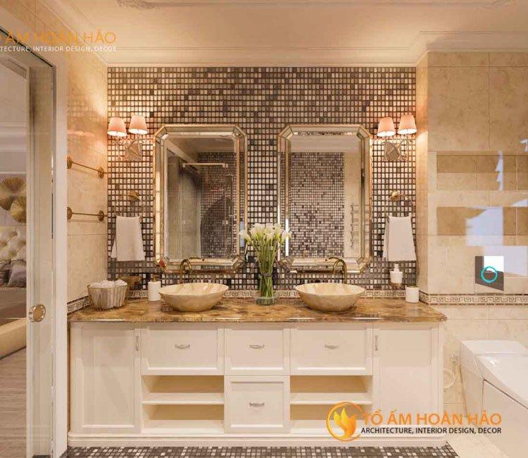 thiết kế thi công kiến trúc nội thất chị Huyền Vinhome7s Rivesides 2 -