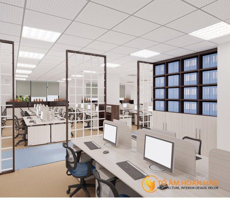 thiết kế thi công kiến trúc nội thất văn phòng Emico 12
