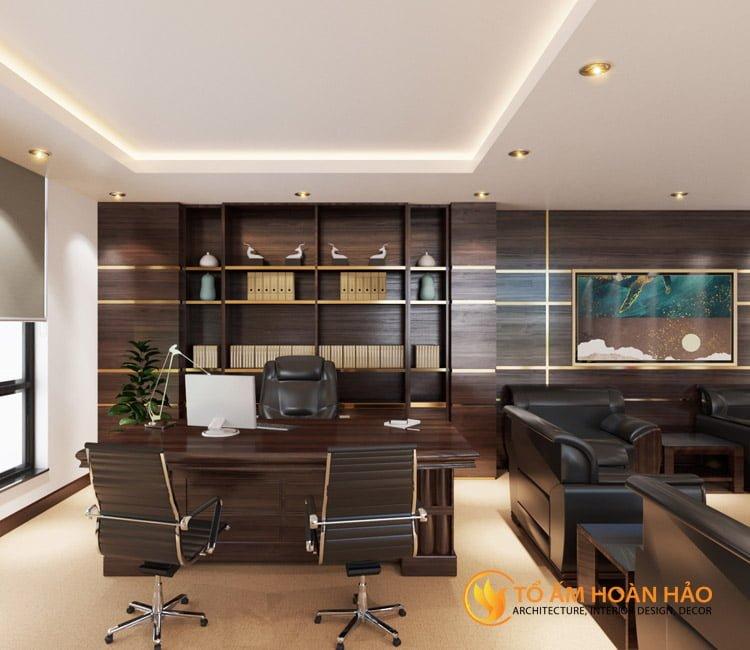 thiết kế thi công kiến trúc nội thất văn phòng Emico 2
