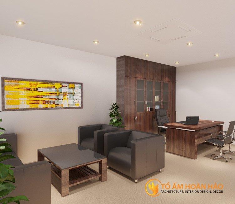 thiết kế thi công kiến trúc nội thất văn phòng Emico 4