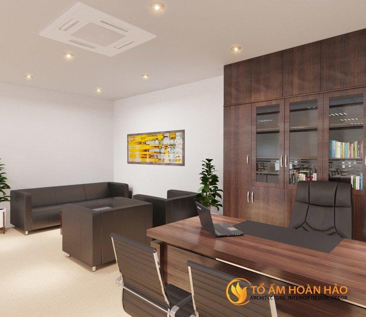 thiết kế thi công kiến trúc nội thất văn phòng Emico 5