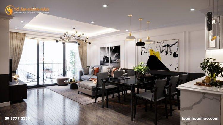 thiết kế thi công kiến trúc nội thất nhà chị Thu HongKong Tower 13