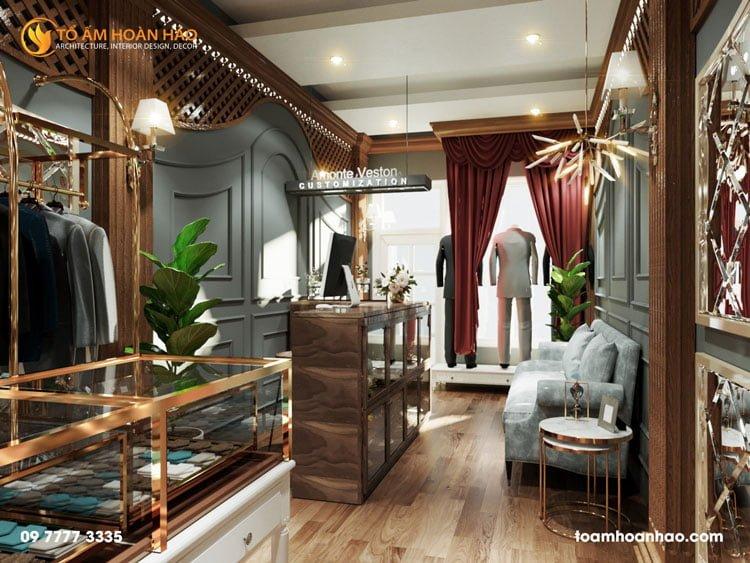 thiết kế thi công kiến trúc nội thất showroom thời trang anmonte 3