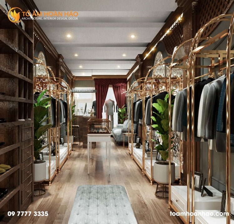 thiết kế thi công kiến trúc nội thất showroom thời trang anmonte 1