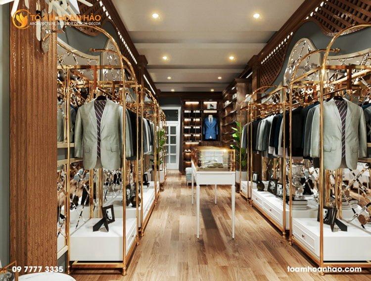 thiết kế thi công kiến trúc nội thất show2room thời trang anmonte
