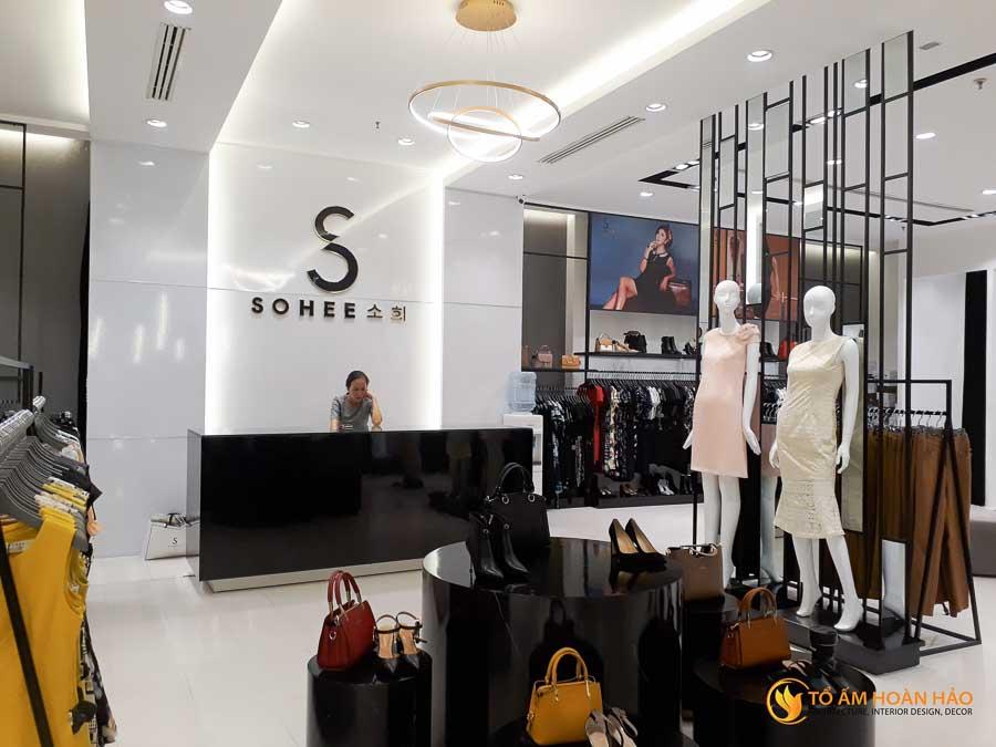 thiết kế thi công kiến trúc nội thất showroom thời trang sohee Vincom Bà Triệu 7