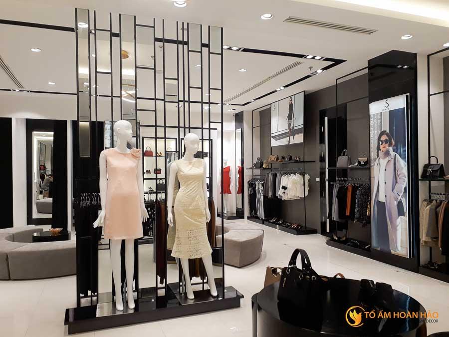thiết kế thi công kiến trúc nội thất showroom thời trang sohee Vincom Bà Triệu 8