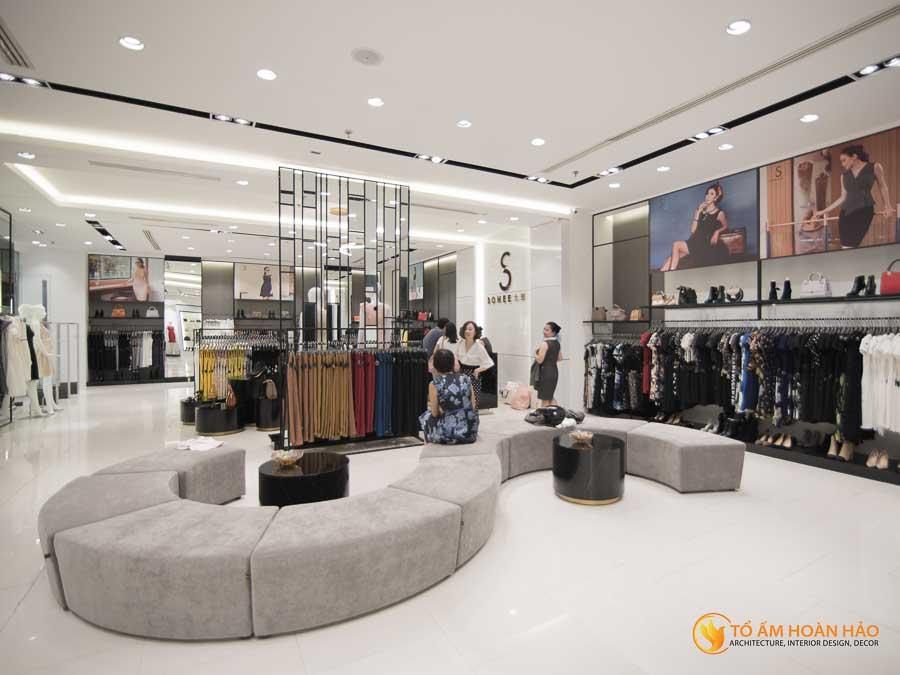 thiết kế thi công kiến trúc nội thất showroom thời trang sohee Vincom Bà Triệu 9