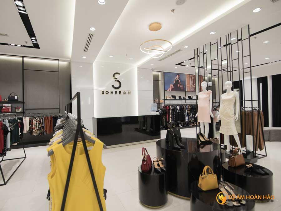 thiết kế thi công kiến trúc nội thất showroom thời trang sohee Vincom Bà Triệu 10
