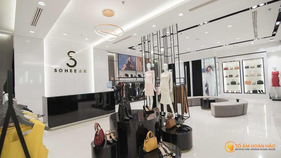 thiết kế thi công kiến trúc nội thất showroom thời trang sohee Vincom Bà Triệu 12