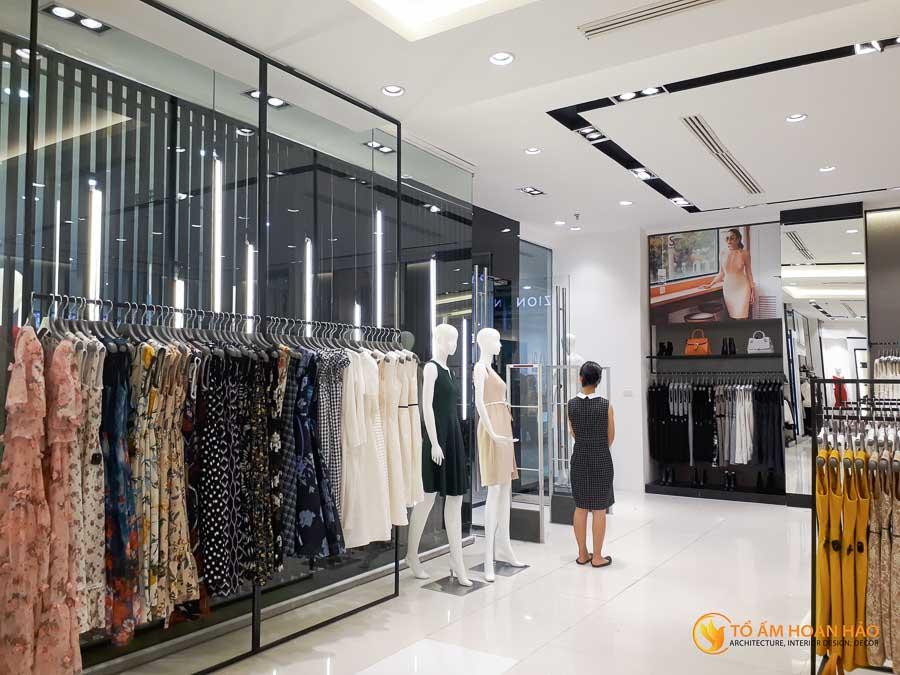 thiết kế thi công kiến trúc nội thất showroom thời trang sohee Vincom Bà Triệu 4