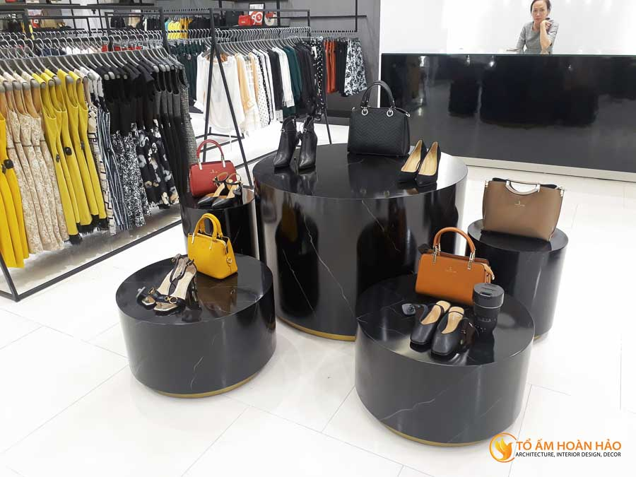 thiết kế thi công kiến trúc nội thất showroom thời trang sohee Vincom Bà Triệu 6