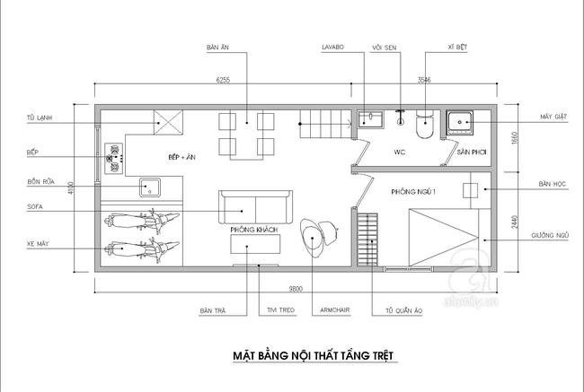 công ty kiến trúc nội thất tư vấn thiết kế nhà 40m2 1