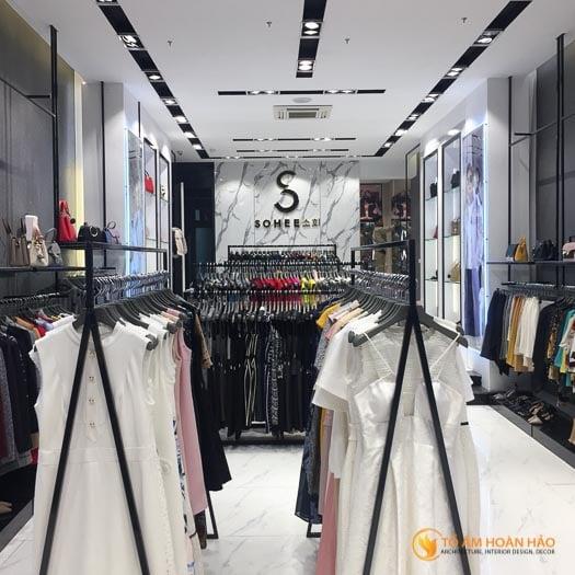 thiết kế thi công nội thất showroom thời trang Sohee Thanh Hóa 4