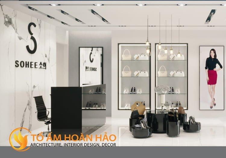 thiết kế thi công nội thất showroom thời trang Sohee Thanh Hóa 2