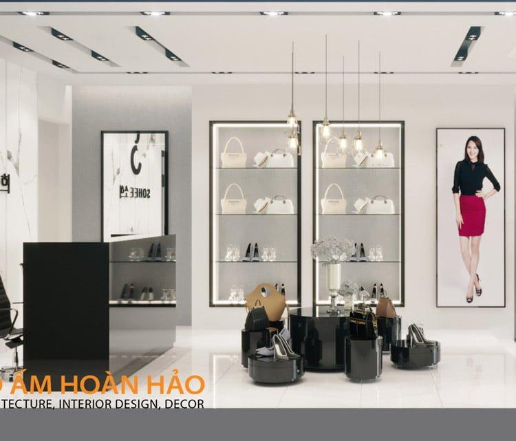 thiết kế thi công nội thất showroom thời trang Sohee Thanh Hóa 3