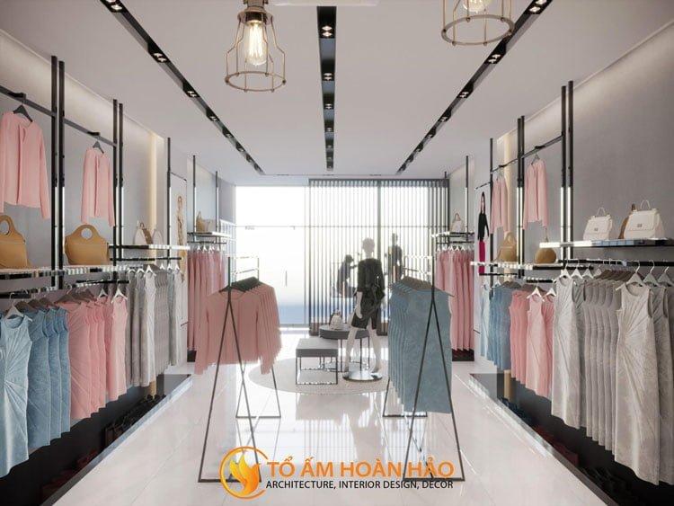 thiết kế thi công nội thất showroom thời trang Sohee Thanh Hóa 5