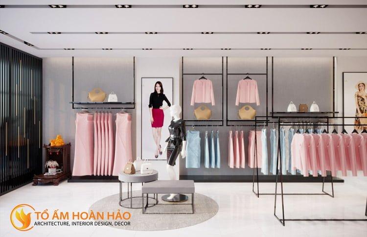thiết kế thi công nội thất showroom thời trang Sohee Thanh Hóa 6