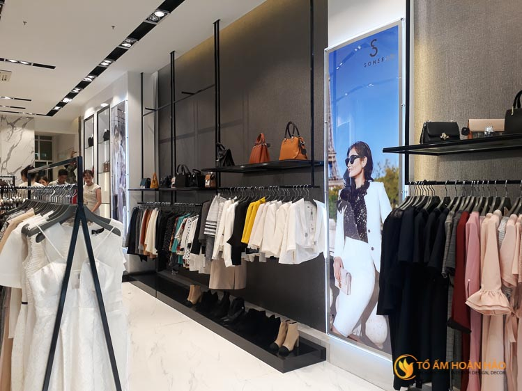 thiết kế thi công nội thất showroom thời trang Sohee Thanh Hóa 1