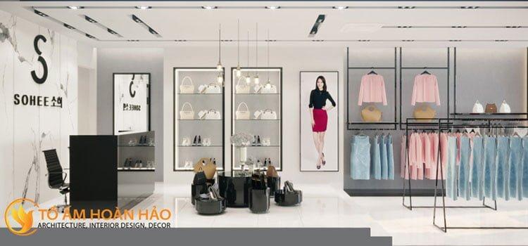 thiết kế thi công nội thất showroom thời trang Sohee Thanh Hóa