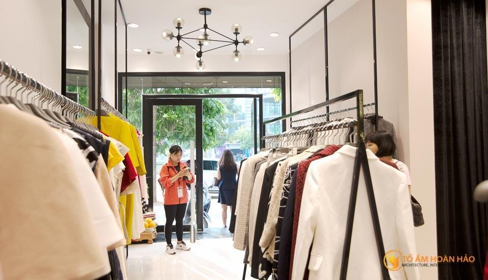 thiết kế thi công nội thất showroom thời trang sohee Nguyễn Văn Huyên 9
