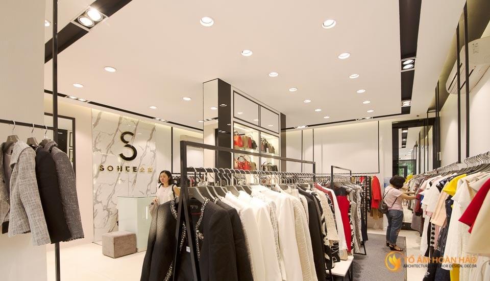 thiết kế thi công nội thất showroom thời trang sohee Nguyễn Văn Huyên 11